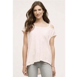 Anthro Left of Center Cold Shoulder Tunic Tee L